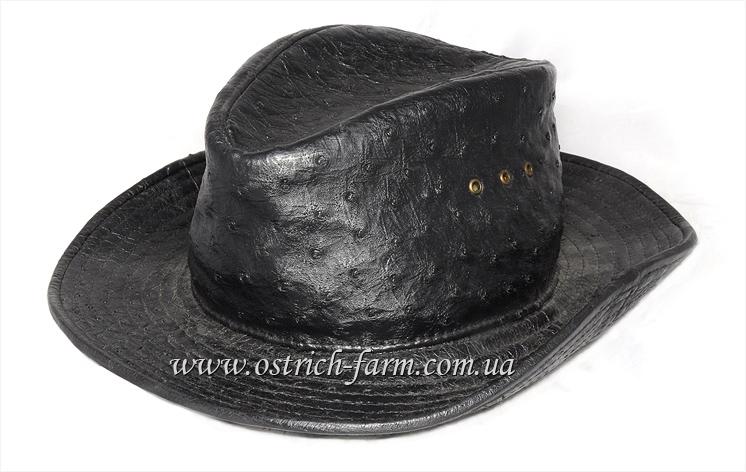 ковбойская шляпа из страусиной кожи